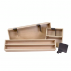 Set de 3 boîtes de rangement en bois pour casserolier Schmidt grande profondeur