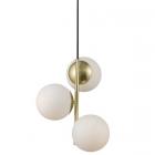luminaire nordlux suspension lilly 3 globes laiton brossé et verre opalin 11010033 principale