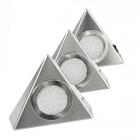 Lot de 3 appliques LED triangulaires finition acier