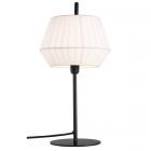 Lampe de table Dicte coton plissé blanc d.21 cm