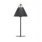 luminaire design for the people lampe de table strap métal noir et sangle en cuir 11050006 principale