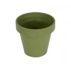 Cache-pot en composite vert amande