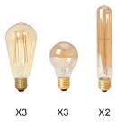 luminaire market set set de 8 ampoules à filament led pour suspension ilo ilo 8l 11060004 principale