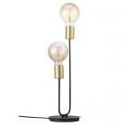 luminaire nordlux lampe de table josefine 2 lumières métal noir mat et laiton 11050012 principale