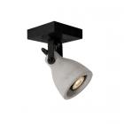 luminaire lucide spot plafond concri led métal noir mat et béton gris 11030005 principale
