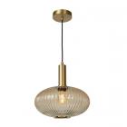 luminaire lucide suspension maloto verre ambre et métal doré mat 11010005 détail 2