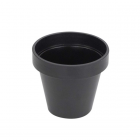 Cache-pot en composite noir réglisse