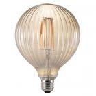 luminaire nordlux ampoule à filament led avra stripes verre ambre e27 2w 11060020 principale