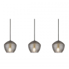 luminaire nordlux suspension orbiform 3 globes laiton brossé et verre fumé 11010016 principale