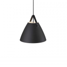 luminaire design for the people suspension strap 36 métal noir et sangle en cuir 11010043 principale