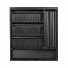 Range-épices 5 compartiments pour tiroir Schmidt grande profondeur - 21 tubes