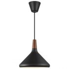 Suspension Nori 27 métal noir et bois FSC d.27 cm