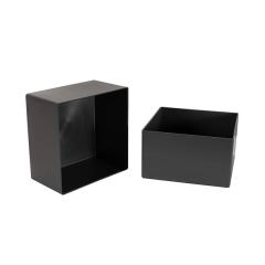 lot de 2 boites carrées pour aménager des blocs tiroirs gris anthracite caneo zboitc principale